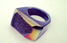 Coated Druzy Rings